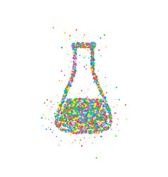 abstract test tube flask vector image