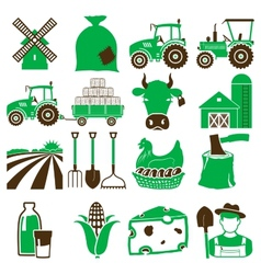 Agriculture icons vector image