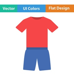 Flat design icon of Fitness uniform vector image