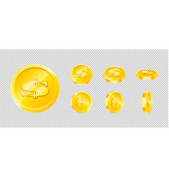 gold game coin set isolated design vector image
