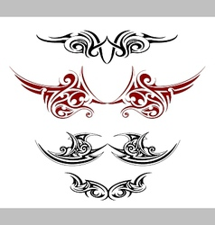 Gothic tattoo as wings shape vector image vector image