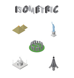isometric cities set of india mosque egypt vector image vector image