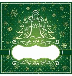 Winter green card vector image