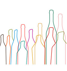with bottles of alcohol vector image