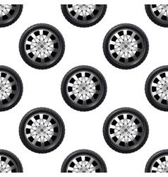 Automobile wheel seamless pattern vector image