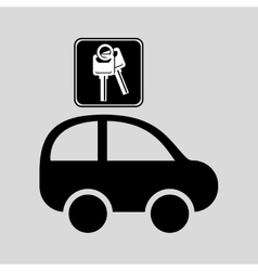 car key sign graphic vector image vector image