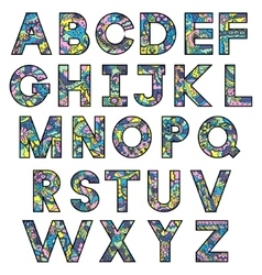 Colorful latin alphabet vector image vector image