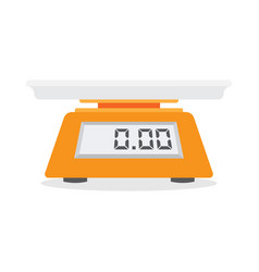 electronic scales for products vector image vector image