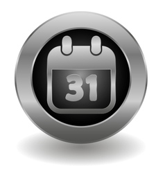 Metallic calendar button vector image vector image