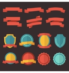 Retro badges labels and ribbons set in vector image vector image