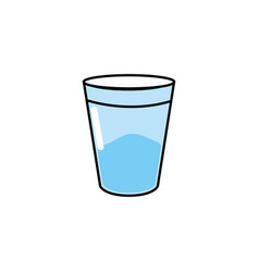 water glass to drink and fresh beverage vector image vector image