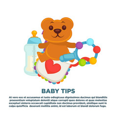 baby shower greeting card for boy or girl child vector image vector image