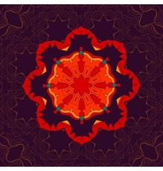 Beautiful Indian floral seamless ornament print vector image vector image