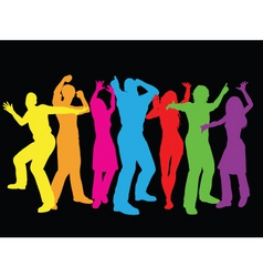 colourful dancers vector image vector image