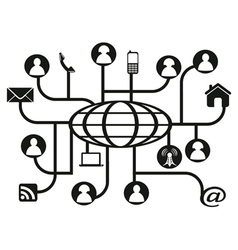 global social network vector image vector image