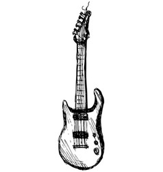 guitar over white background vector image