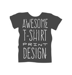 Men t-shirt design template vector image