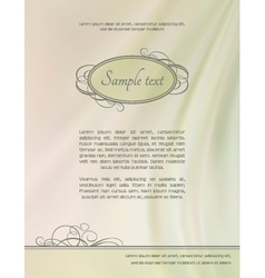 Vintage abstract frame silk wave background vector image vector image