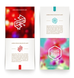 Abctact vertical banners with hipster emblems vector image vector image