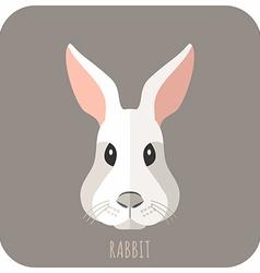 Animal Portrait With Flat Design Rabbit vector image
