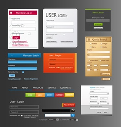 elements web design vector image vector image