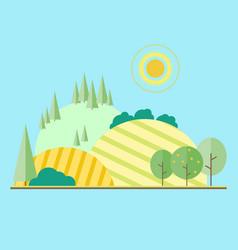 flat eco style life vector image
