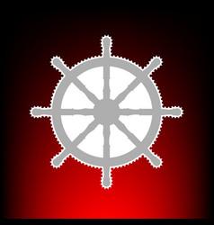 ship wheel style vector image