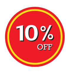 10 off discount price tag isolated vector