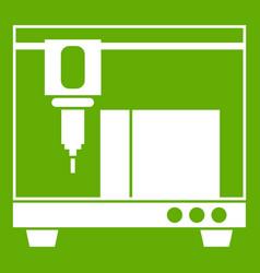 3d printer icon green vector