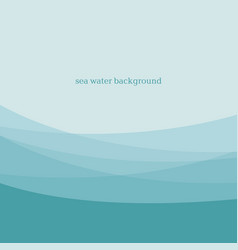 abstract blue sea water modern background design vector image
