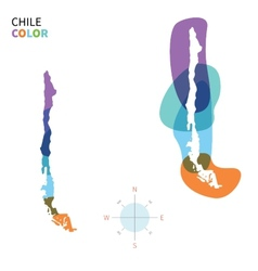 abstract color map chile vector image