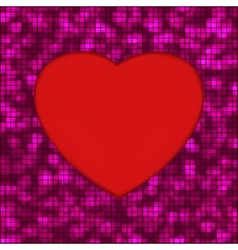 Abstract mosaic glowing heart background EPS 8 vector