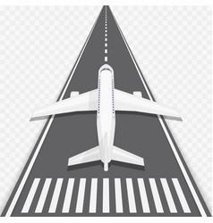 airplane on runway vector image