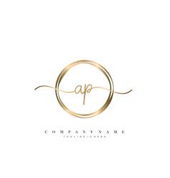 Ap initial handwriting logo vector