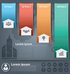 Arow business infographic vector