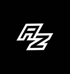Az logo monogram with up to down style negative vector