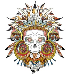 Aztec indian Skull vector image