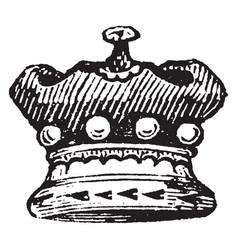 Baron coronet is a small crown vintage engraving vector