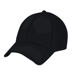 Baseball cap icon on a white background vector