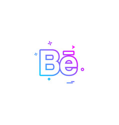 Behance icon design vector