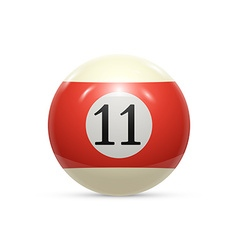 Billiard eleven ball isolated on a white vector