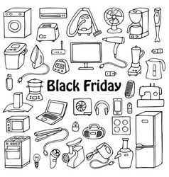 Black friday household set vector