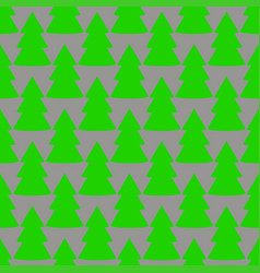 christmas fir tree green gray art seamless pattern vector image
