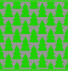 christmas fir tree green gray art seamless pattern vector image