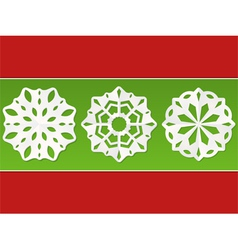 christmas paper snowflakes vector image
