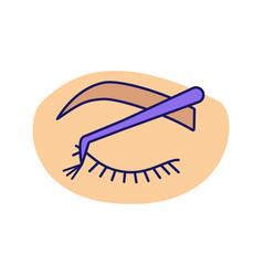 Cluster lash extension color icon vector