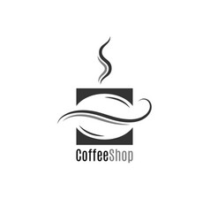 coffee shop logo bean on white background vector image