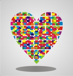 colorful abstract heart vector image