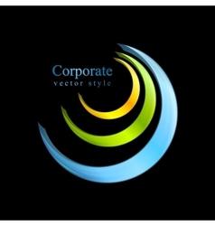 Colorful logo element design vector