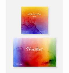 creative template background set with bright vector image